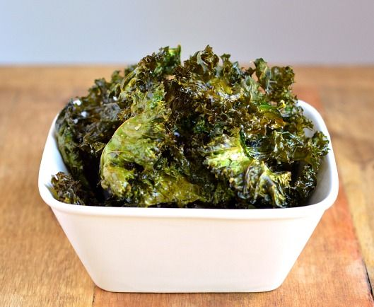 Crispy Kale Chips. Haven't made these in awhile.