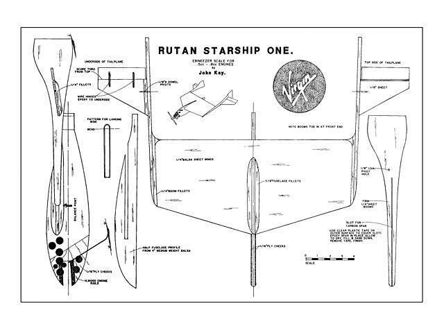 Rutan Starship One Oz11575 By John Kay From Model Flyer Plan Thumbnail Model Airplanes Model Flying Rc Plane Plans