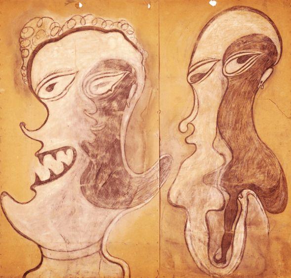 HEINRICH ANTON MÜLLER. Deux visages. 1922.