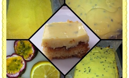 Delicious Passionfruit Slice