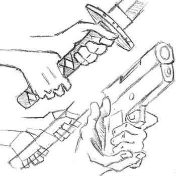 Dibujar Manos Empuñando Armas y Agarrando Objetos                                                                                                                                                     Más