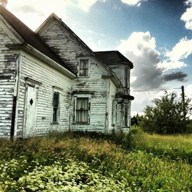 Old abandoned house near Vogler's Cove, Lunenburg County, Nova Scotia.