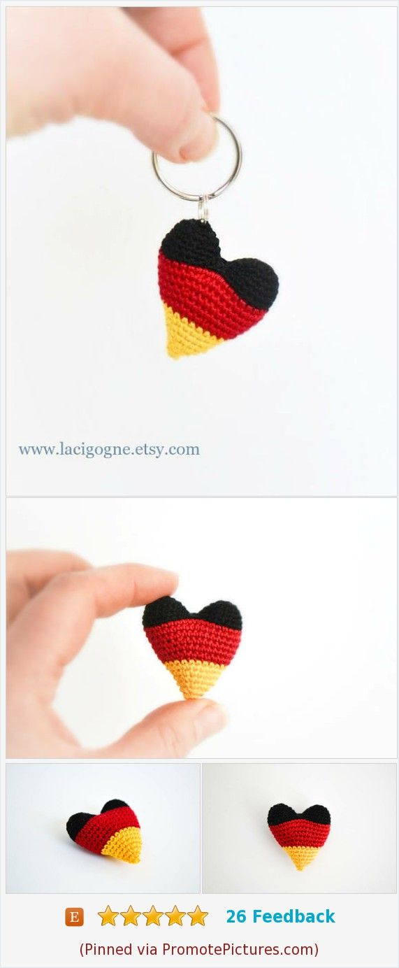 Heart the Keychain Crochet Pattern Colors of German flag Amigurumi Heart #Crochet #heart #Gift #Partyfavor #amigurumi https://www.etsy.com/LaCigogne/listing/571975312/pattern-heart-the-keychain-crochet?ref=shop_home_active_2  (Pinned using https://PromotePictures.com)