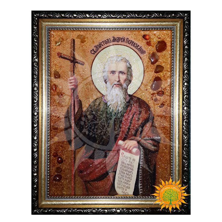 Святой Апостол Андрей Первозванный янтарная икона - Amber stone