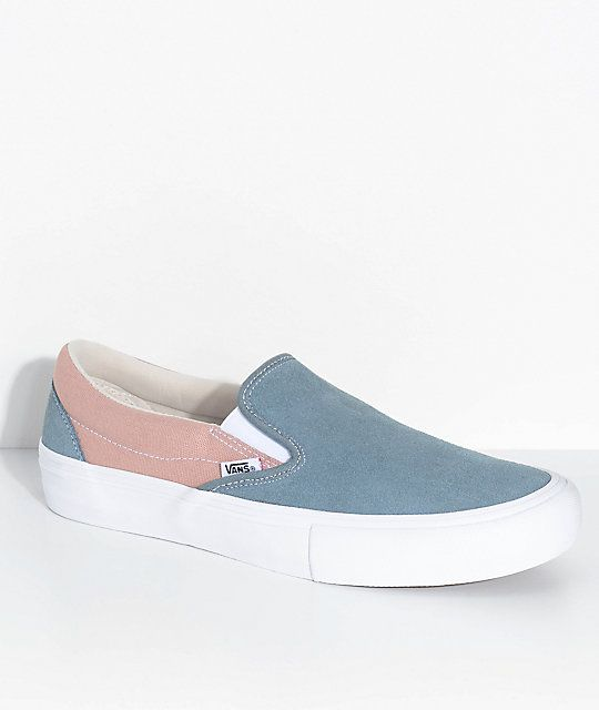 3cc33767c5c Vans Slip-On Pro Goblin Blue   Mahogany Rose Skate Shoes
