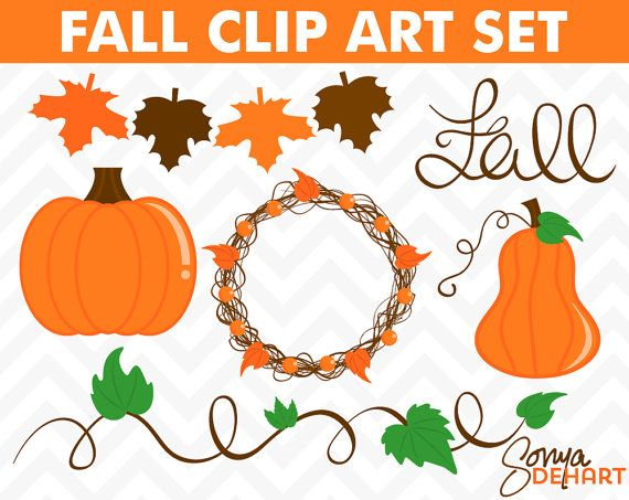 60 OFF Clipart Fall Set Pumpkins Vines Leaves by SonyaDeHartDesign https://www.etsy.com/listing/161932411/60-off-clipart-fall-set-pumpkins-vines?ref=shop_home_active_19
