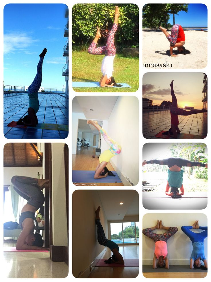 My yoga headstand variations