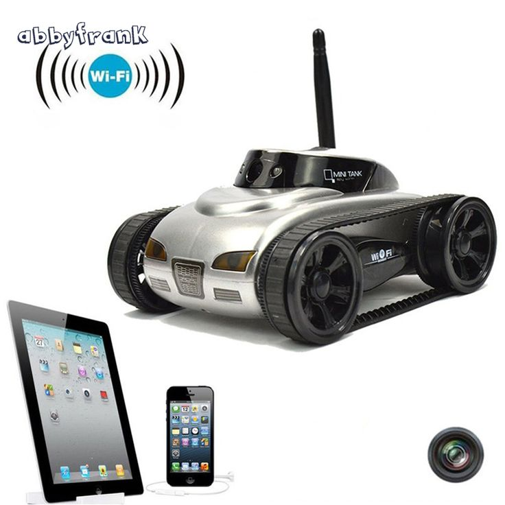 Abbyfrank RC Mini Tank Car IOS Phone Remote Control 777-270 Wifi Spy Tanks Shoot Robot With 0.3MP Camera Toys For Children Adult //Price: $77.68     #techie