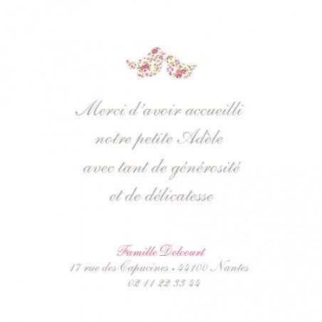 Carte de remerciement (thank you card) : Merci poétique - by Tomoë pour http://www.fairepartnaissance.fr #naissance #remerciement #birth
