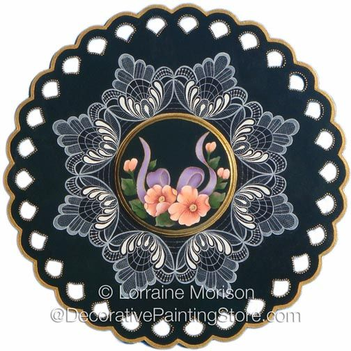 The Decorative Painting Store: Enchanting Lace & Flowers Pattern PDF DOWNLOAD, Lorraine Morison