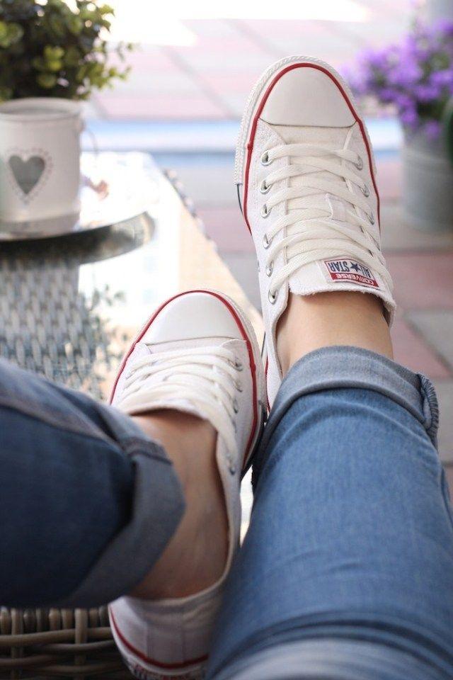 How to: Converse All Stars wassen, witte schoenen in de ...