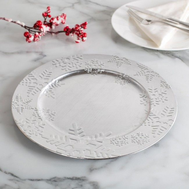 Transform your regular dinnerware this season into festive place settings with our Christmas Charger Plates.