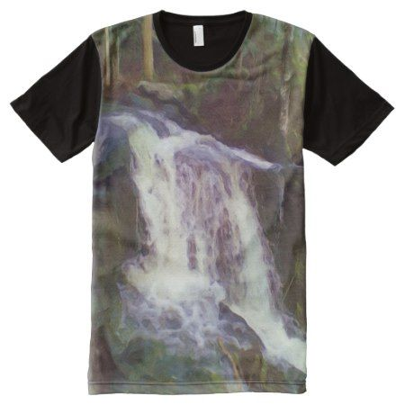 stream oil paint effect All-Over-Print T-Shirt - tap, personalize, buy right now!