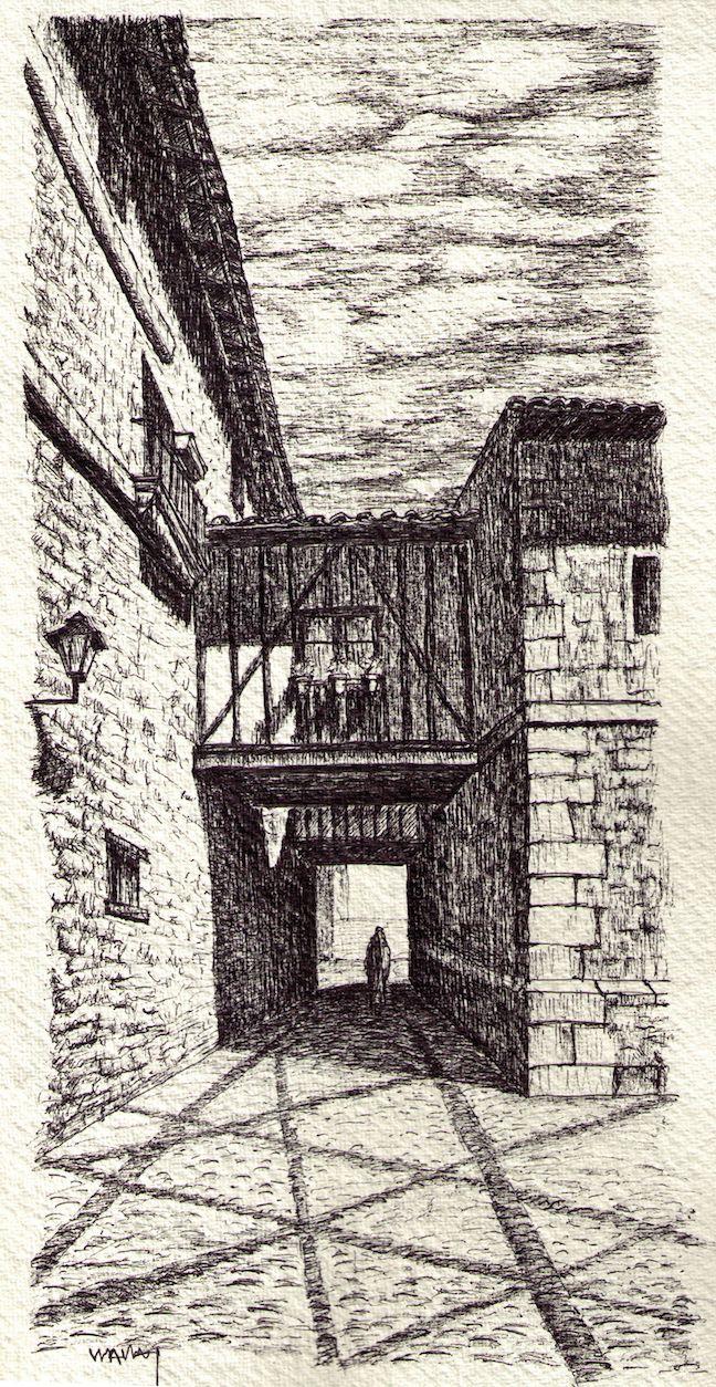 Dibujos Llanes Palacio del Marqués de Gastañaga