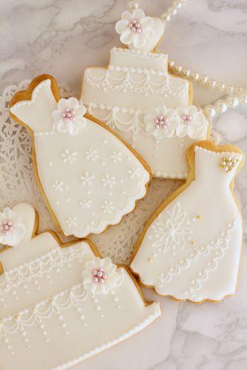 アイシングクッキー ウェディングセット - アイシングクッキーとカップケーキのMammySweetsFactory