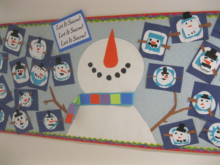 Loved the picture I found on Pinterest- made it myself and my students made their snowmen in art- great way to talk about point of view with 2nd graders!