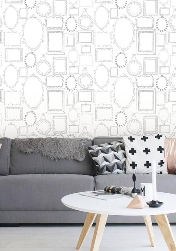 Removable Wallpaper Peel And Stick Wallpaper Frame Etsy Removable Wallpaper Framed Wallpaper Frames On Wall