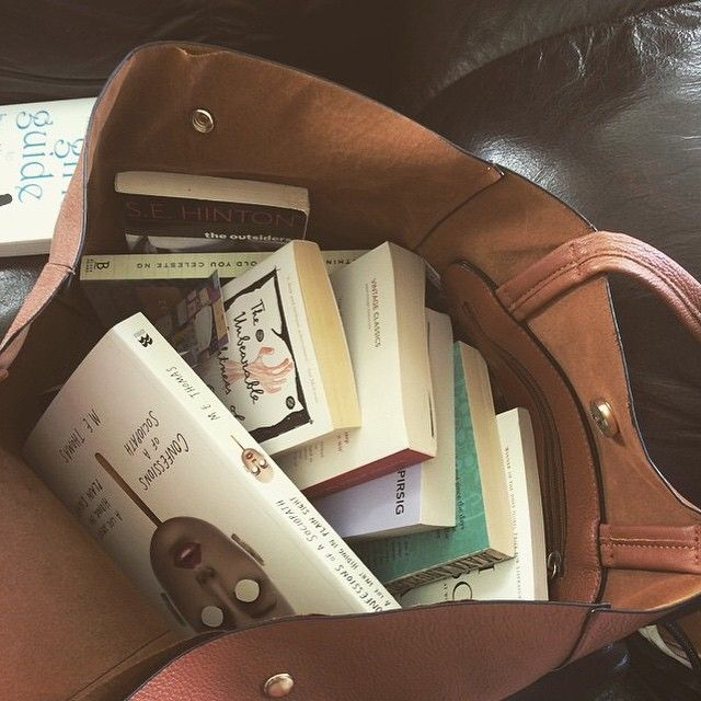 A bag full of books :) love buying lots of books from second hand books shops