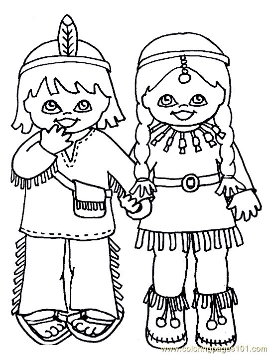 indian+coloring+sheets   free printable coloring page Indian Coloring Page 001 (4) (Cartoons ...