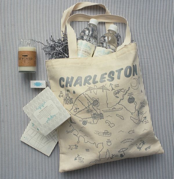 Southern Wedding Gift Bag Ideas : Welcoming Wedding Gift Bags Via Southern Weddings, Photo by Liz ...