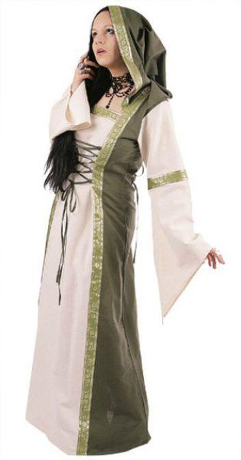 Middeleeuwse jurk groen
