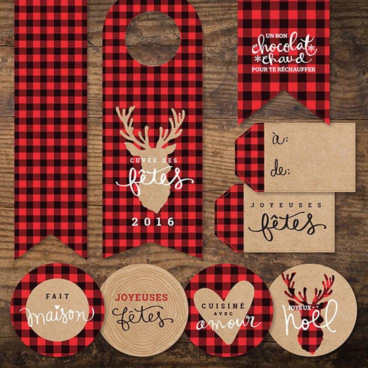 Une collection complète pour décorer vos emballages des Fêtes.