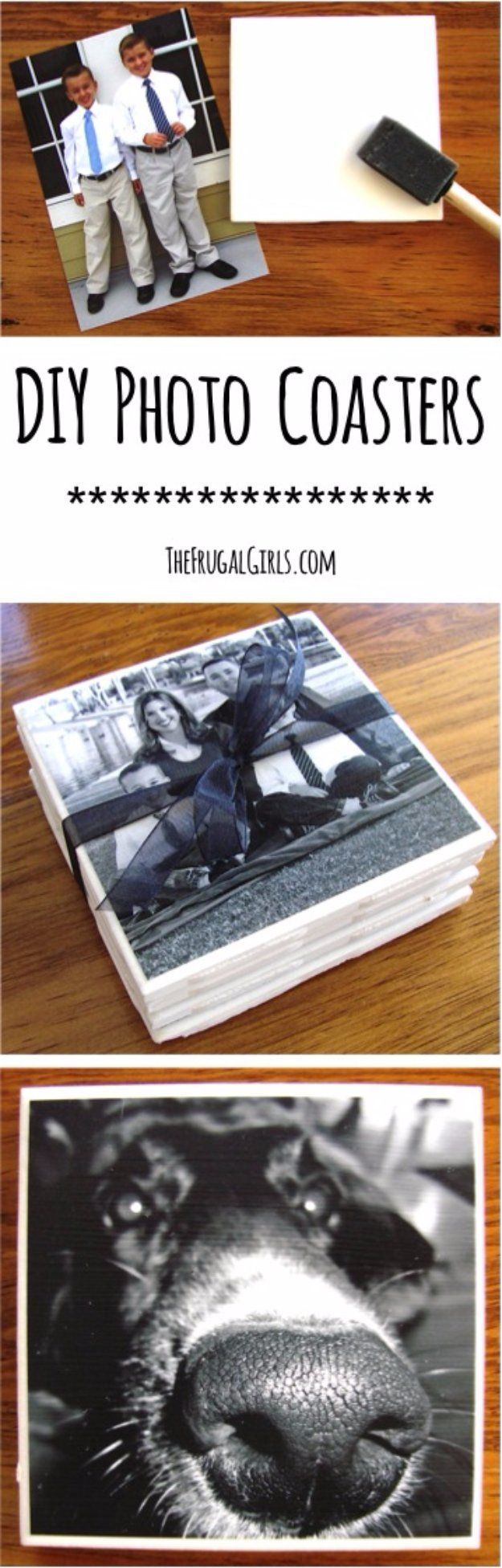 Easy Crafts To Make and Sell - Beautiful Photo Coasters - Cool Homemade Craft Projects You Can Sell On Etsy, at Craft Fairs, Online and in Stores.…