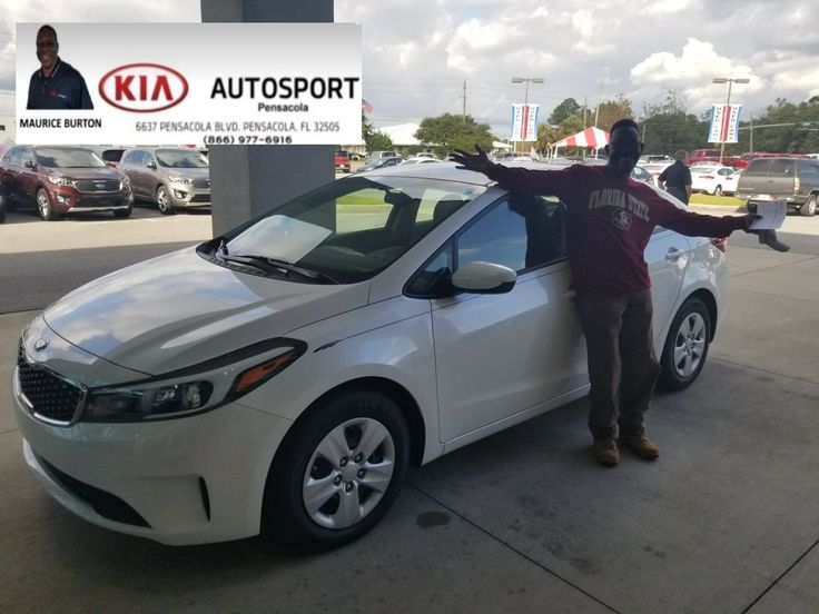 """Mr. Lindsay looks awesome with his BRAND NEW 2017 KIA Forte!! Maurice Burton and KIA AutoSport wish you HUGE CONGRATULATIONS to you!! Thank you for making us your GO TO Dealer!! We look forward to serving you now and with all your future needs!! """"WE WANNA SEE YA IN A KIA"""" #KIAFAMILY"""