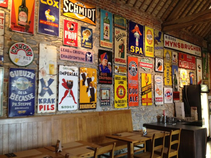 Vintage Belgium Beer Signs Belgianbeer Authencity Beer