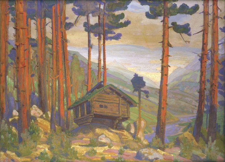 Н.К.Рерих. Песня Сольвейг (Песнь Сольвейг). 1912