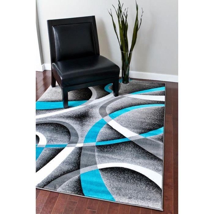 Persian-rugs Tobis Turquoise/Gray Indoor/Outdoor Area Rug & Reviews | Wayfair