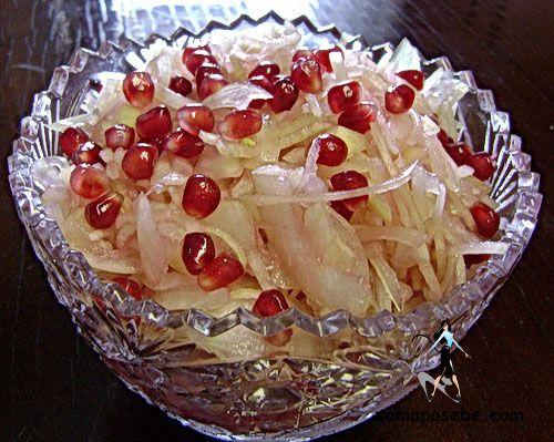 Луковый салат для диабетиков