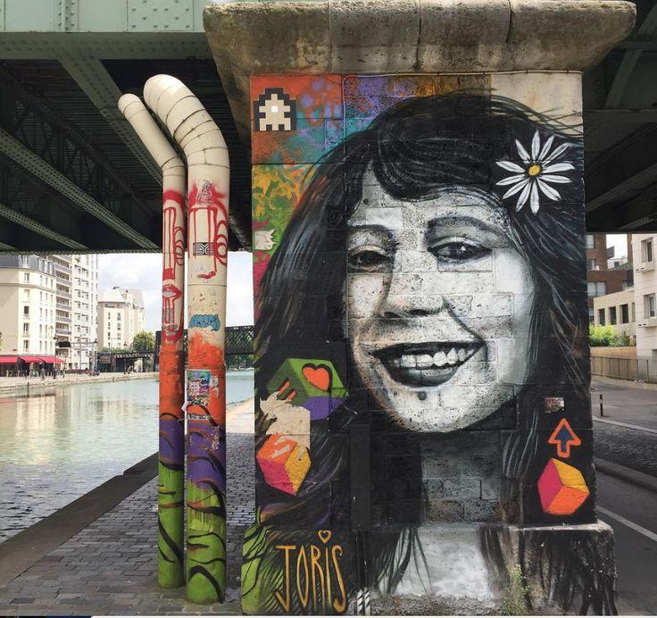 Joris de la Cour along Ourcq Canal, La Villette, Paris, 2017