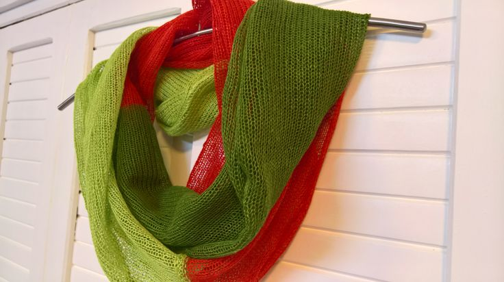 This eco and natural linen scarf is an elegant addition to a spring/ summer wardrobe.  Each item is carefully handmade from 100% natural linen. Scarf is stretchable.If you want to shorten scarf just stretch it to the sides. If you want to make it a bit longer just stretch it to the length. Itis made on a knitting machine from pure linen.