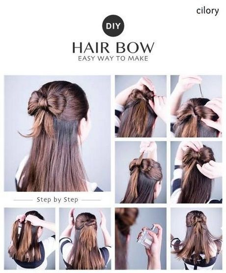 Easy hairstyles #Long hairs #Leading #Middle hair #Furst hairdresser #Quickly #Guidance #Hairstyles #Weave hairstyles #Alle …