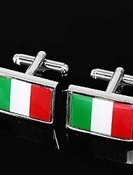 Bandeira da Itália Abotoaduras projeto