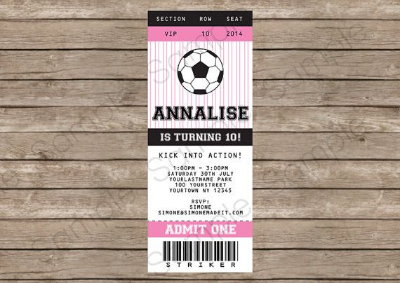Best 25+ Soccer tickets ideas on Pinterest Soccer party, Party - ticket invitation