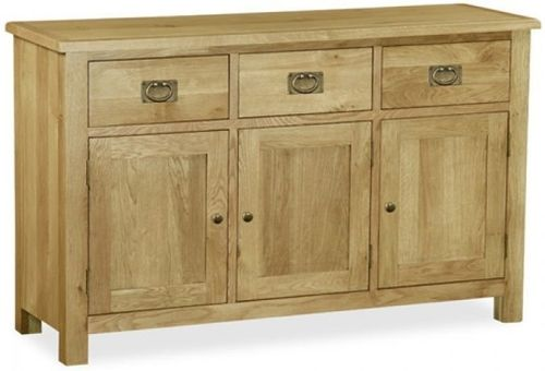 salisbury lite, oak, large sideboard, sideboard