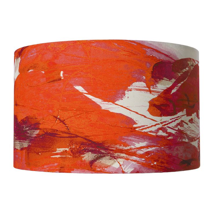 Discover the Anna Jacobs Sedum Detail in Orange Lamp Shade - Large at Amara