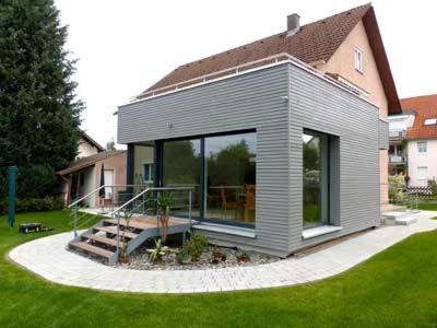 HERZ & LANG :: Energieeffizientes Bauen :: Nr. 101 - Wohnraumerweiterung - Anbau in Holzständerbauweise an ein bestehendes Zweifamilienhaus