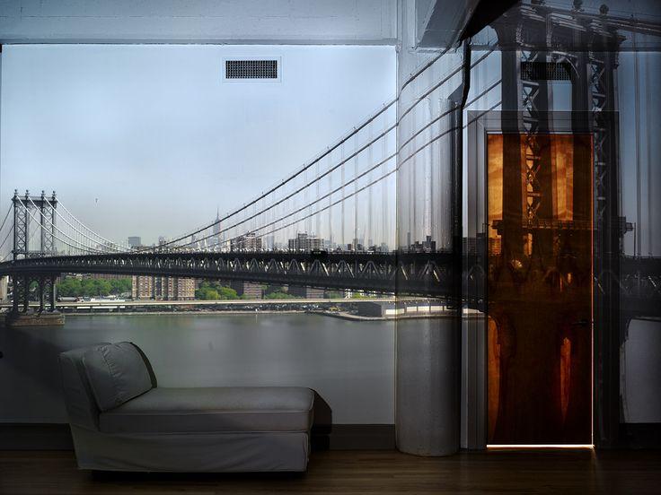 Camera Obscura. View of the Manhattan Bridge, April 30th Morning, 2010