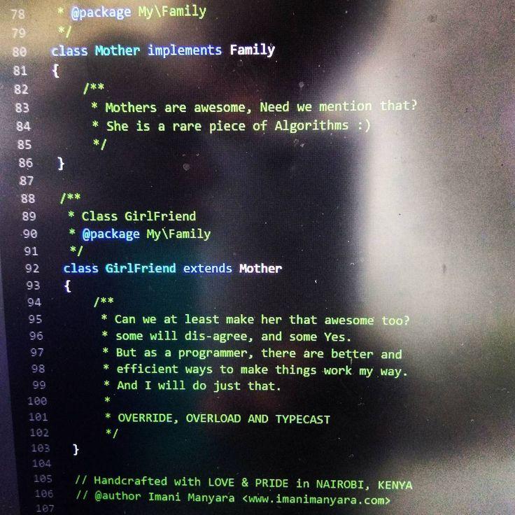 Object Oriented Programming. What If?  #imanimanyara #dephode #designer #developer #photographer #artdirector #computerscience #programmer #minimaldesigner #minimalist #php #mysql #html5 #css3 #nodeJS #c #python #ruby #server #networking #fullstack #java #oop #cloudcomputing #security #hacked #jetbrains #Nairobi #Kenya