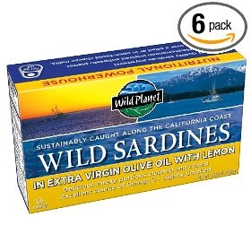 Wild Planet Wild Sardines in Extra Virgin Olive Oil & Lemon, 4.375-Ounce (Pack of 6) $15.88