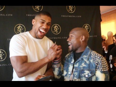 Popular Right Now  United Kingdom l ANTHONY JOSHUA TELLS FLOYD MAYWEATHER  GET ME ON THE UNDERCARD OF THE CONOR McGREGOR FIGHT