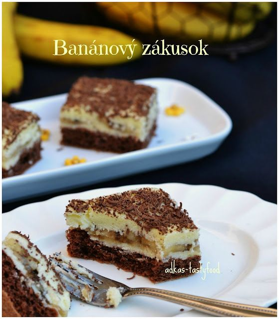 .. chute a vône mojej kuchyne...: Banánový zákusok - najjednoduchší  krémový  zákuso...
