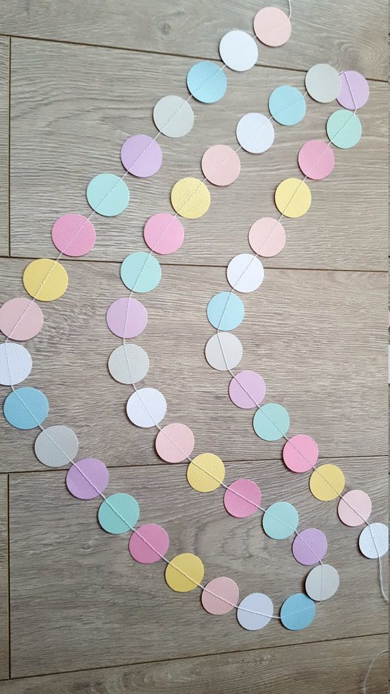 Check out this item in my Etsy shop https://www.etsy.com/au/listing/476756806/pastel-garland-paper-garland-party-decor