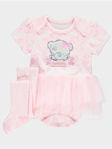 Baby Girl Character Outfits: Tatty Teddy Tutu Bodysuit & Tights Set – Novelty-Characters
