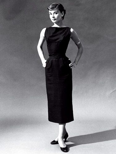 "Audrey Hepburn wearing ""A Little Black Dress"" by Hubert de Givenchy"