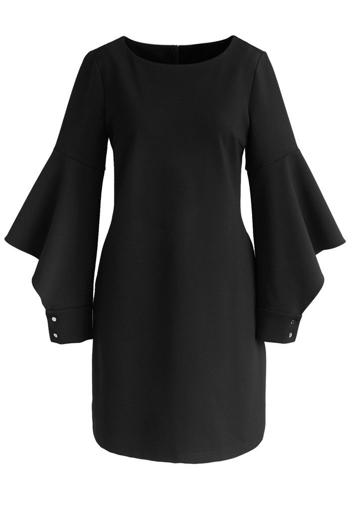 Matters of Elegance Shift Dress in Black - New Arrivals - Retro, Indie and Unique Fashion