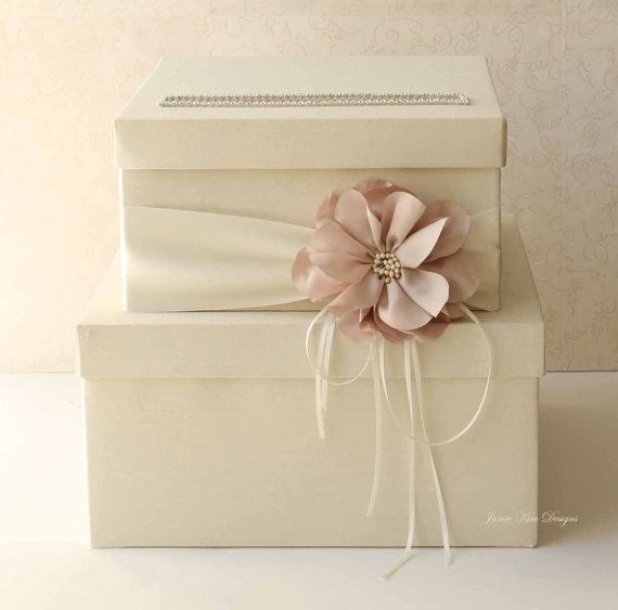 Wedding Card Box Wedding Money Box Gift Card by jamiekimdesigns, $102.00 We can totally make this!!!